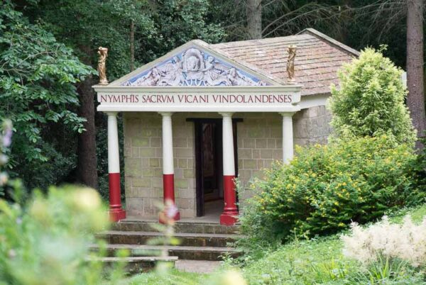 Replica Roman temple at Vindolanda