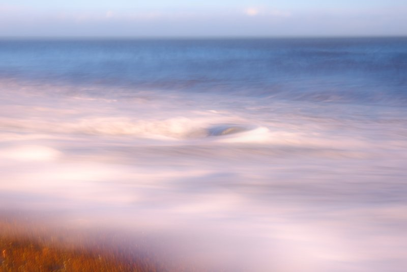 Abstract view of water on a beach