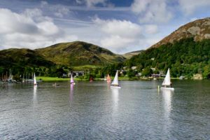 sail boats in the lake district